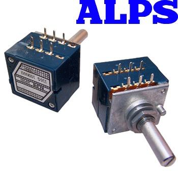 "ALPSBLU-02: Alps ""Blue Beauty"" 20K dual log potentiometer"