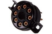 Octal valve bases, 8 pin