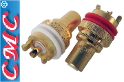 CMC copper RCA sockets, gold plated (pair) 805CUG