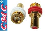 CMC-816-U-G RCA sockets, gold plated