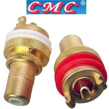 CMC-805-2.5-F-G gold plated RCA, phono sockets (pair)