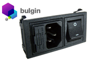Bulgin IEC Inlet with Switch and Fuseholder - Panel Mount