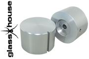 Glasshouse silver anodised knob (40mm dia.)