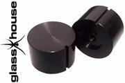 Glasshouse black knob 40mm diameter