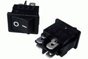 Mains On-Off Minature Rocker Switch DPST