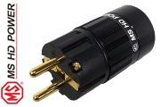 MS HD Power Schuko (EU) mains plug, Gold plated