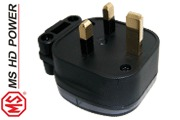 MS HD Power MS328 13A UK mains plug, unplated