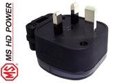 MS HD Power MS328Rh 13A UK plug, Rhodium plated