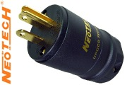 Neotech NC-P313, UP-OCC copper USA AC plug, gold plated