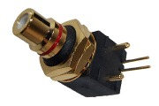 Low cost high quality Right angled gold plated RCA sockets