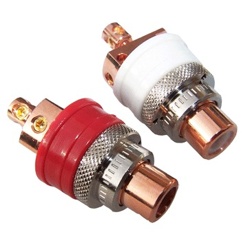 High quality Copper RCA sockets (pair)