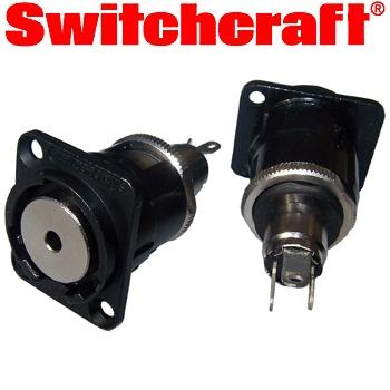 Switchcraft - XLR-3.5HDB Stereo 3.5mm Jack Socket, black