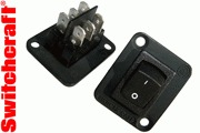 Switchcraft Mains DPDT Rocker Switch to fit XLR hole