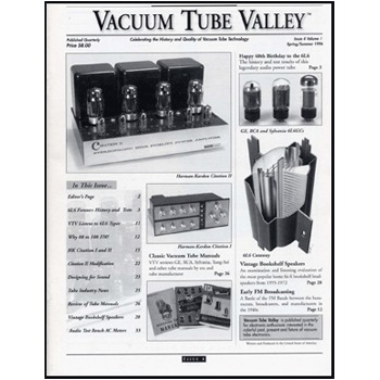 Vacuum Tube Valley, Issue 04