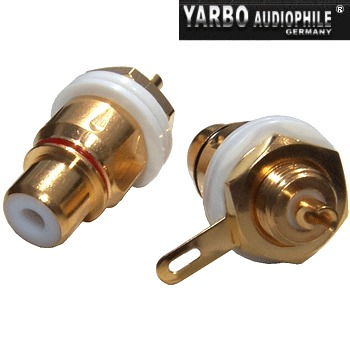 Yarbo Gold plated RCA socket (pair)